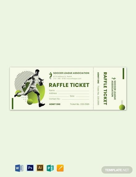 soccer raffle ticket template