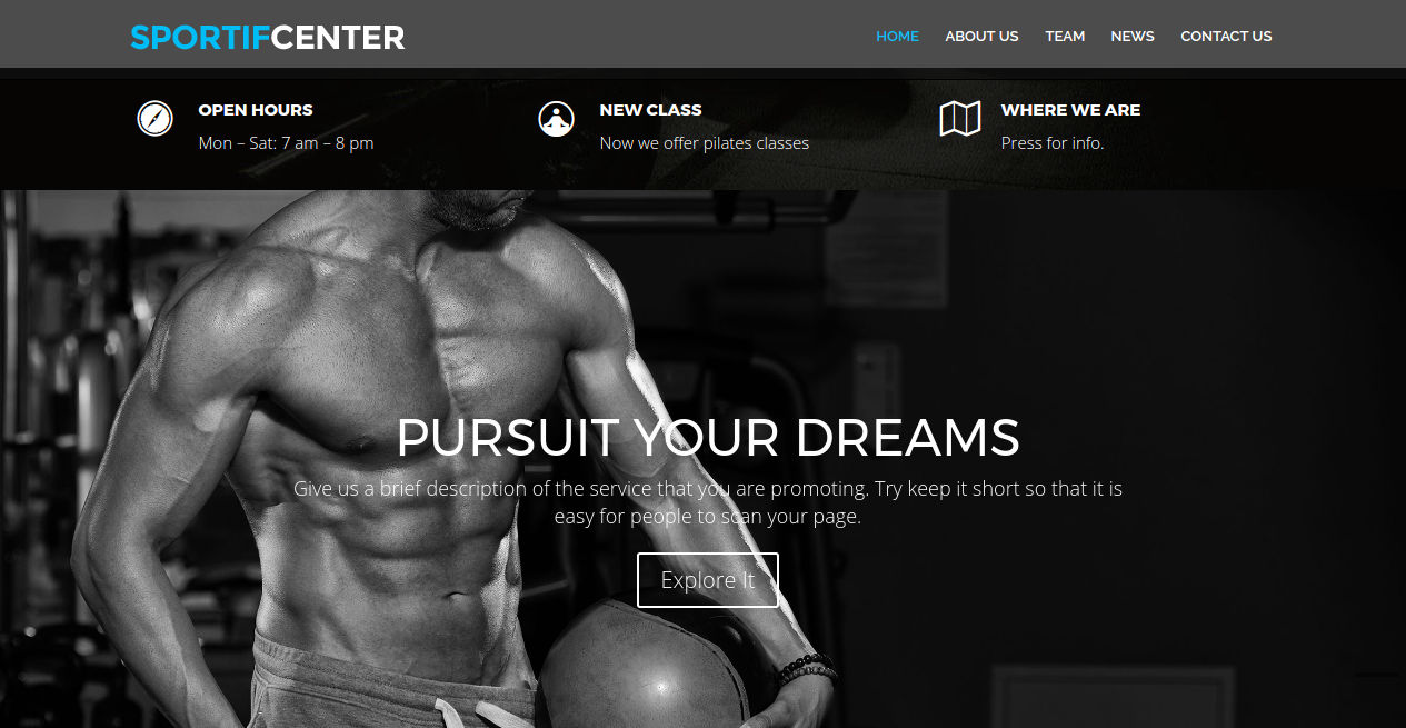 Sports Fitness WP Theme