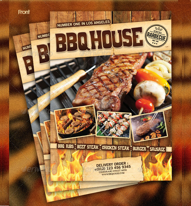steak menu flyer