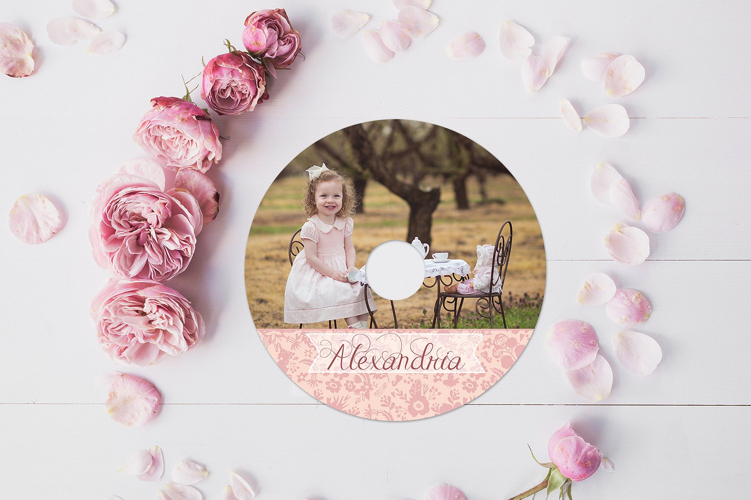 Tea Party CD Label Template