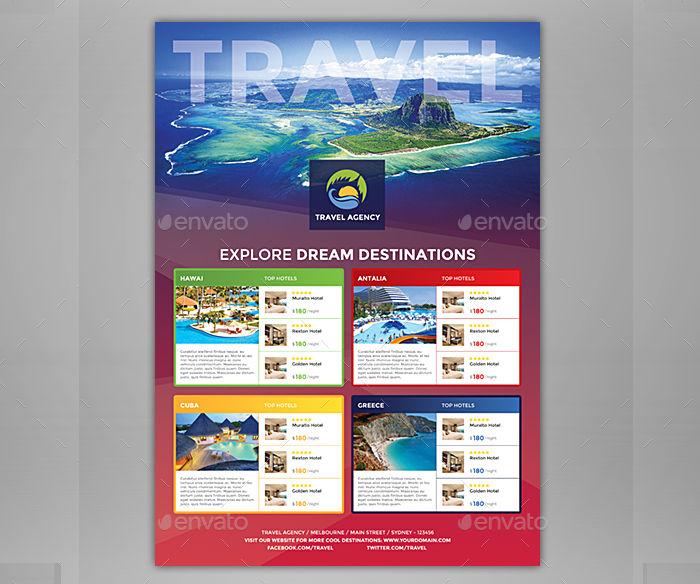 travel agency magazine ad