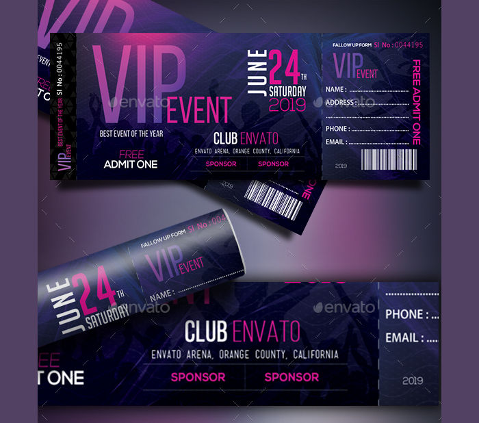 24  event ticket templates
