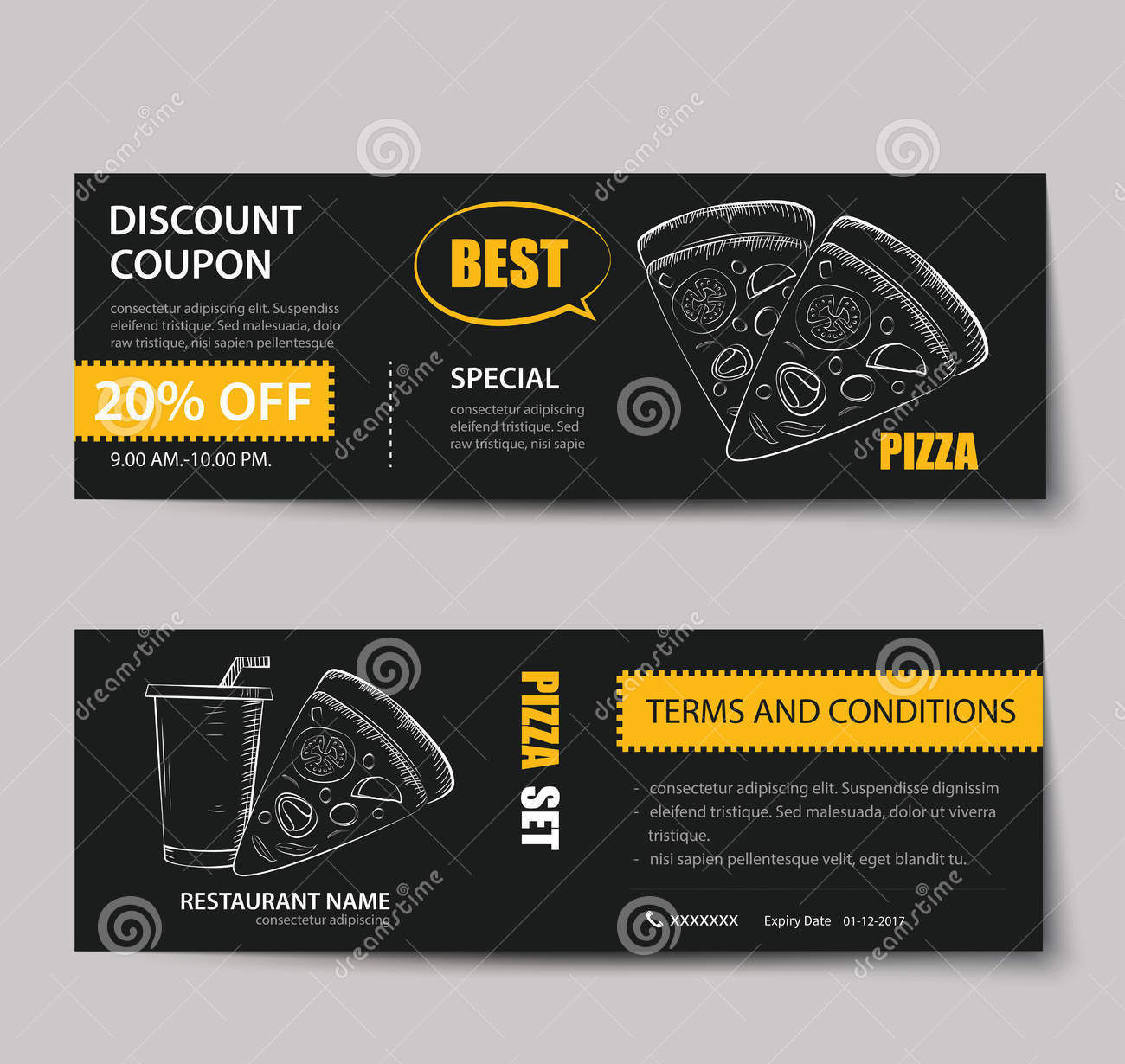 Discount coupons design