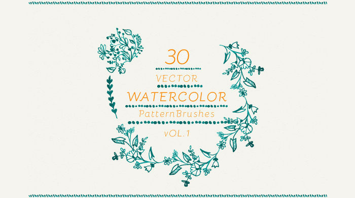 vector pattern watercolor brushes