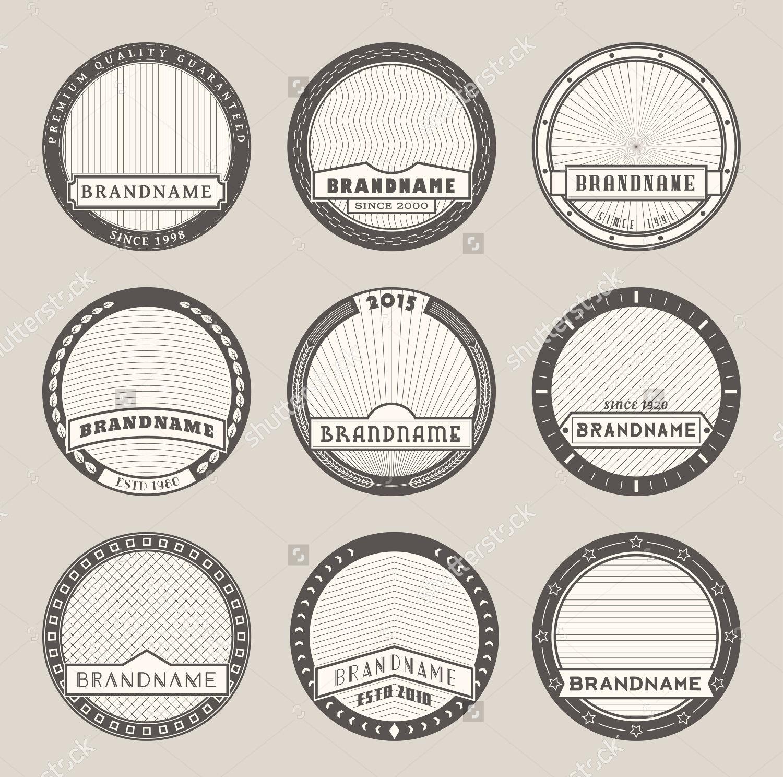 Round Label Design Templates