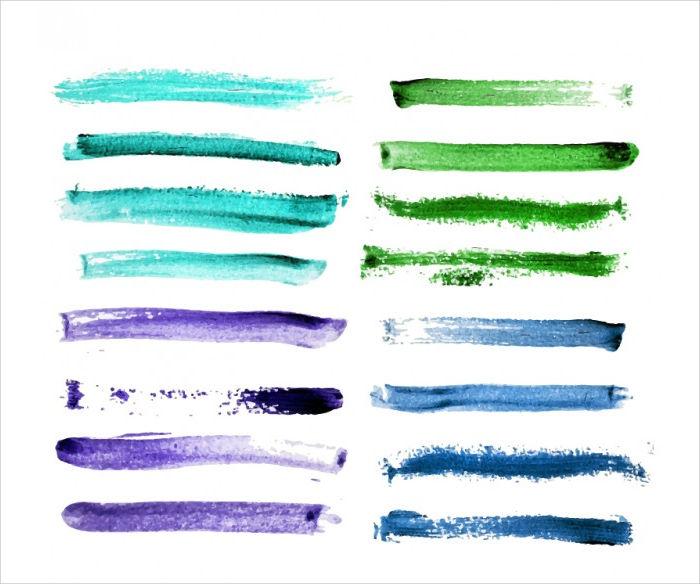 Vector Watercolor Brush Strokes