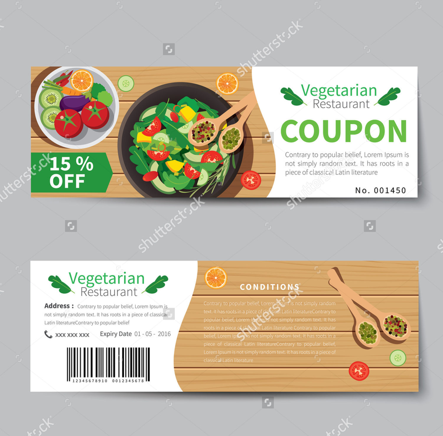 Discount food coupons