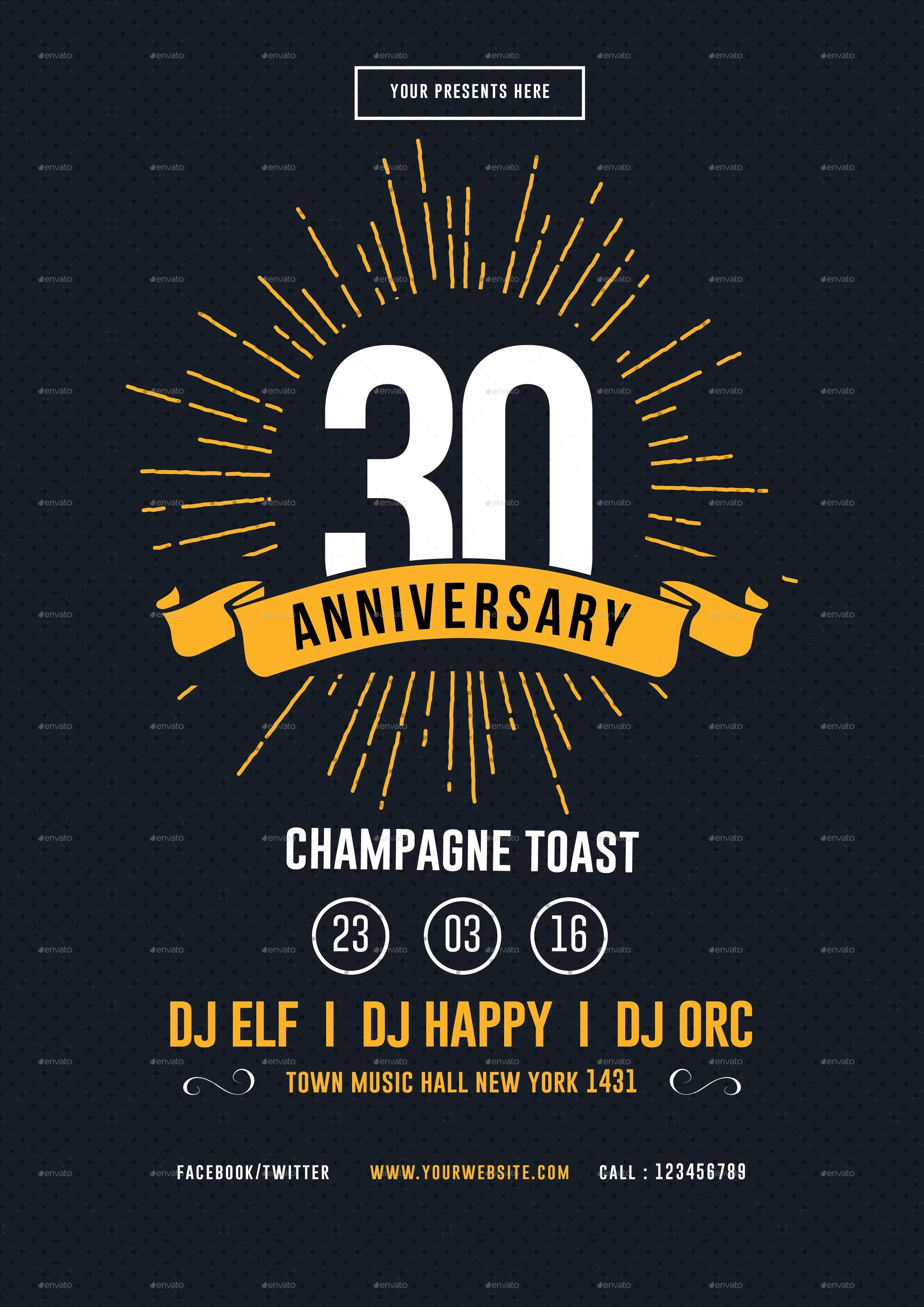 8 anniversary flyer designs psd ai vector eps format