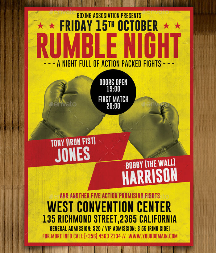 Vintage Boxing Flyer
