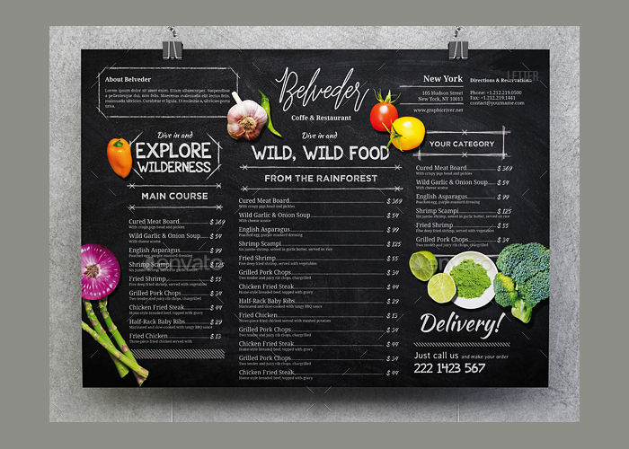 16  chalkboard menu templates