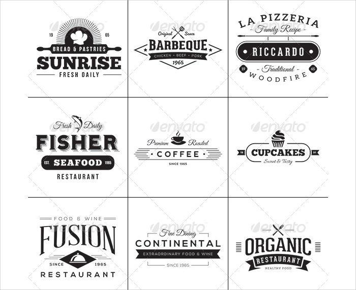 vintage food restaurant labels