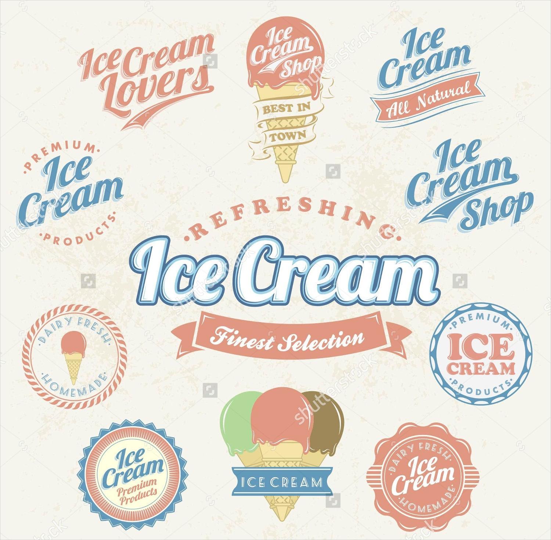 vintage ice cream labels