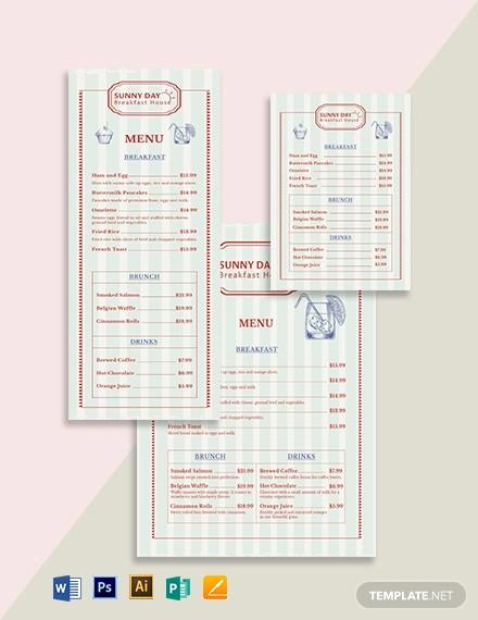 vintage menu template1