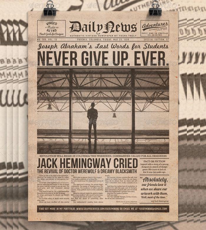 Vintage Newspaper Flyer