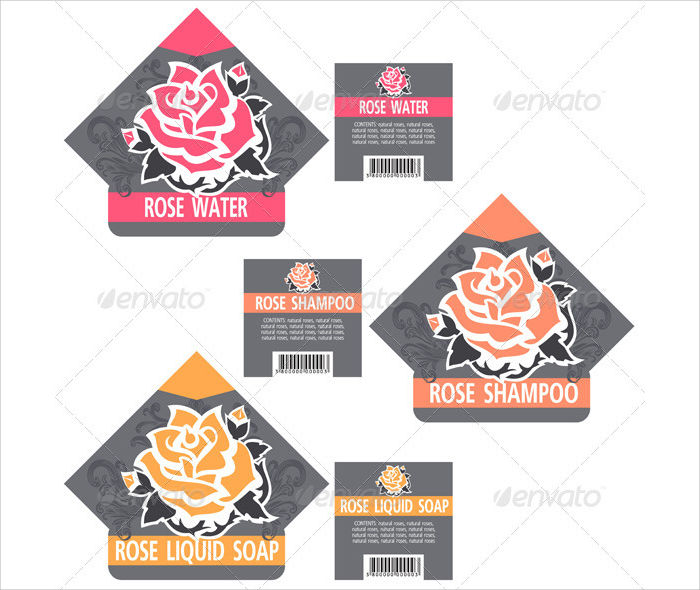 vintage rose cosmetic labels