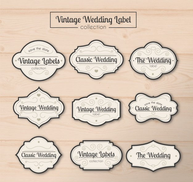 vintage wedding label