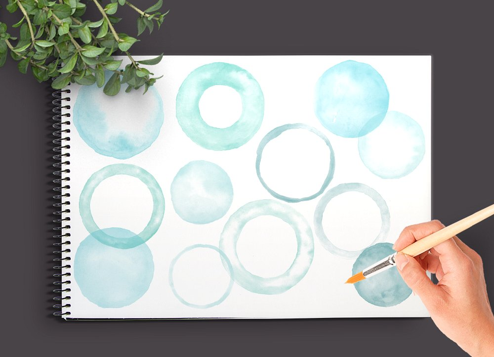 Watercolor Circle Brushes