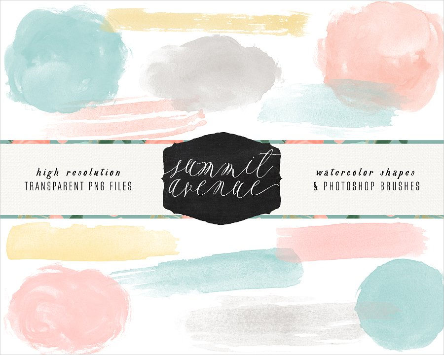 Watercolor Shape Brushes