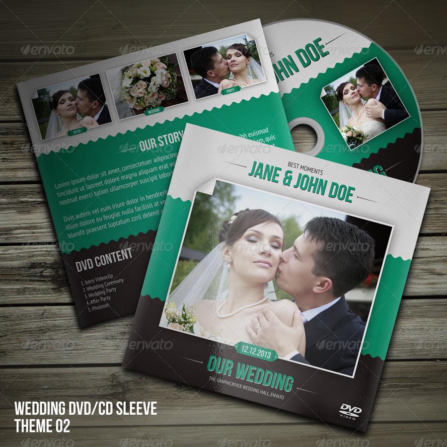 Wedding DVD CD Disc Label
