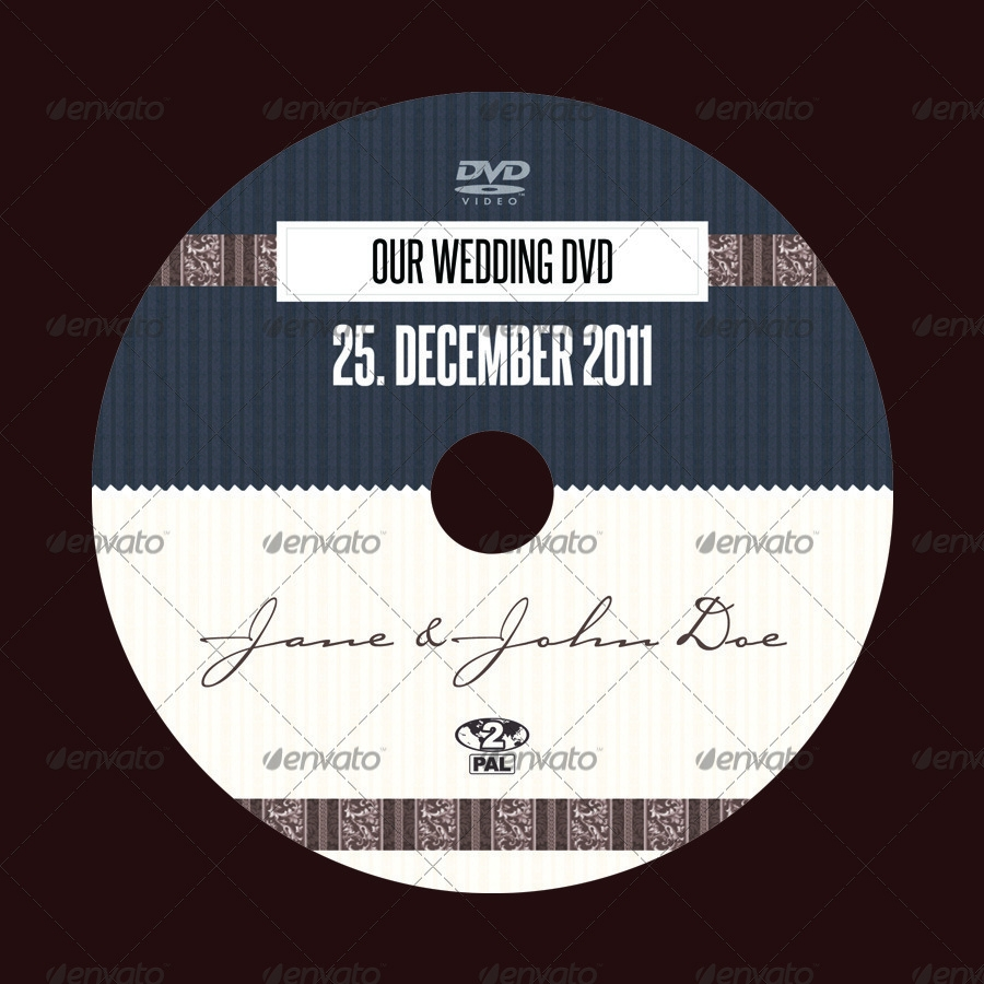 wedding dvd cover and label
