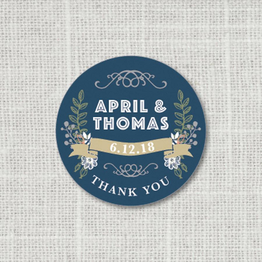 wedding label stickers