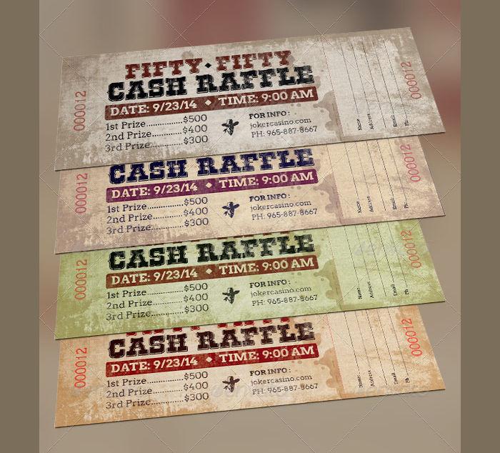 Western Style Raffle Ticket