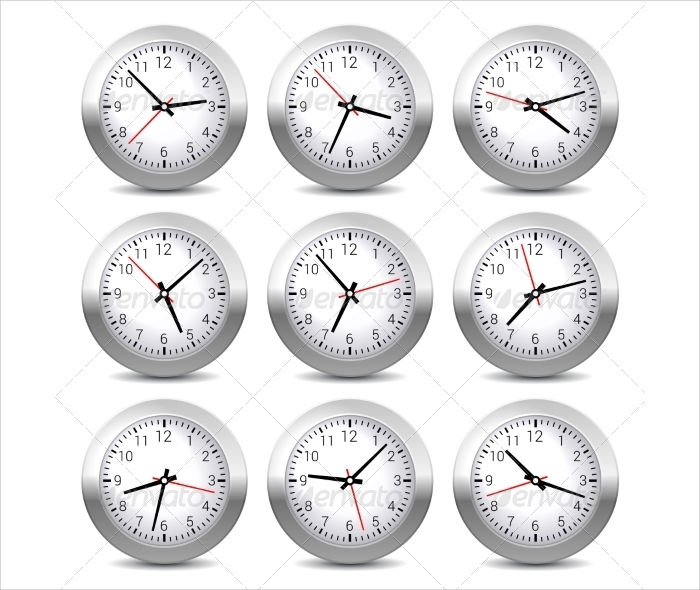 Wall Clock Design Template : Clock templates design trends premium psd vector