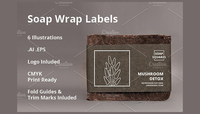 wrap soap label template