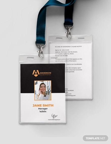 advertising agency id card design