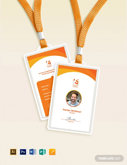 daycare staff id card template