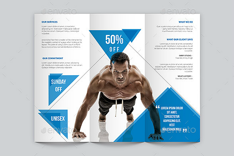 10 fitness brochure designs design trends premium psd for Fitness brochure design