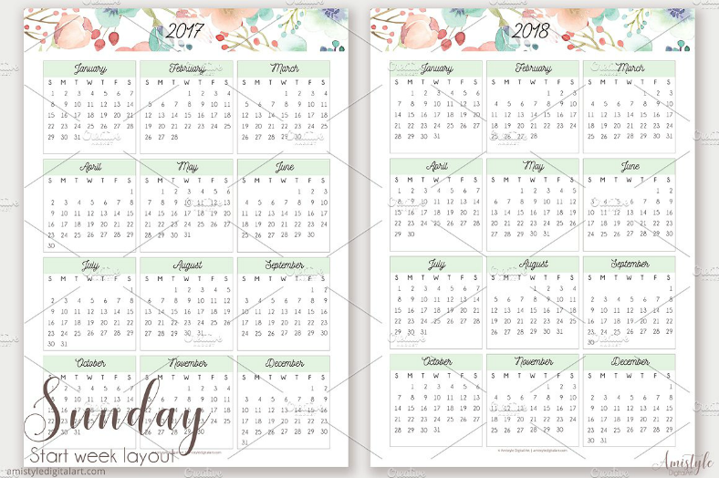 Pocket Calendar Design : Printable wall desk pocket calendar designs
