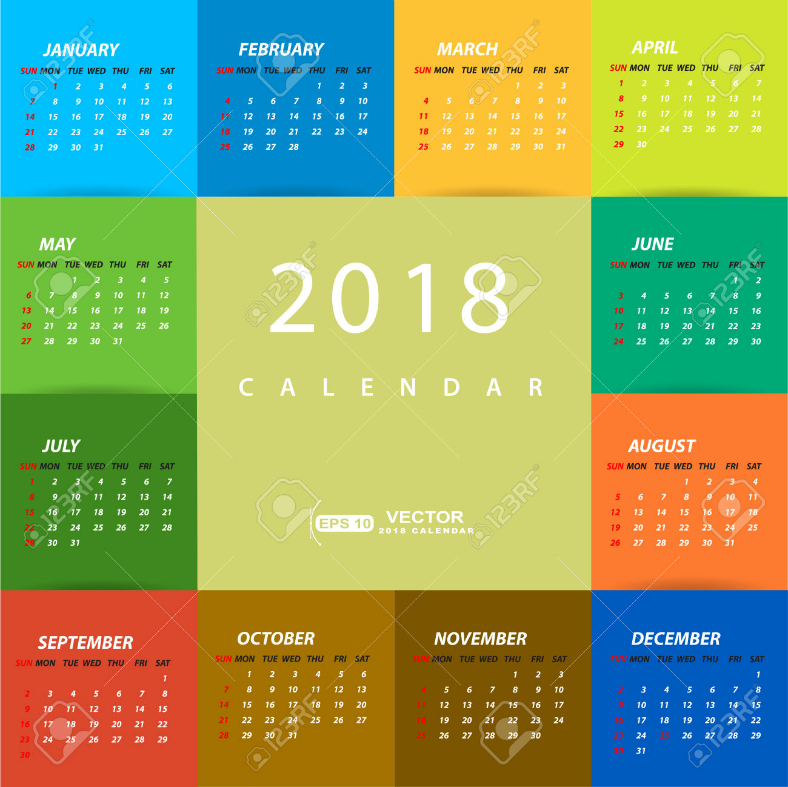 Calendar Design Ideas Vector : Printable wall desk pocket calendar designs
