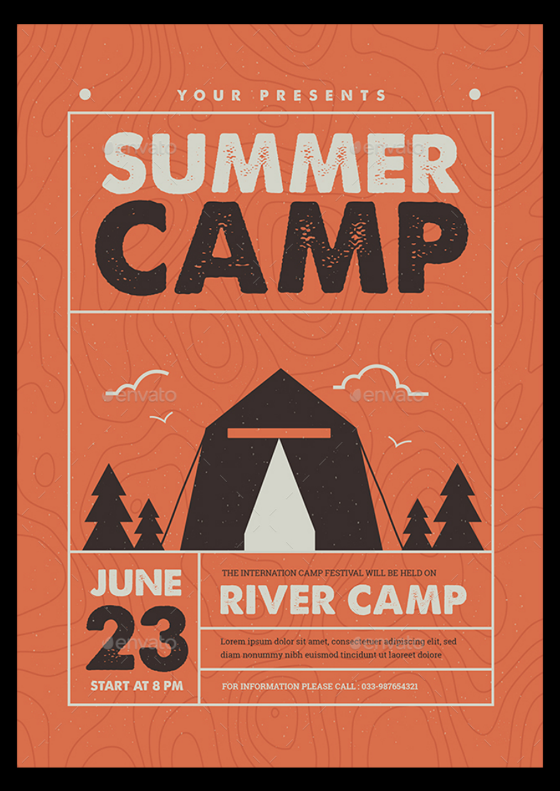 8 flyer designs for summer camp design trends premium Camp designs