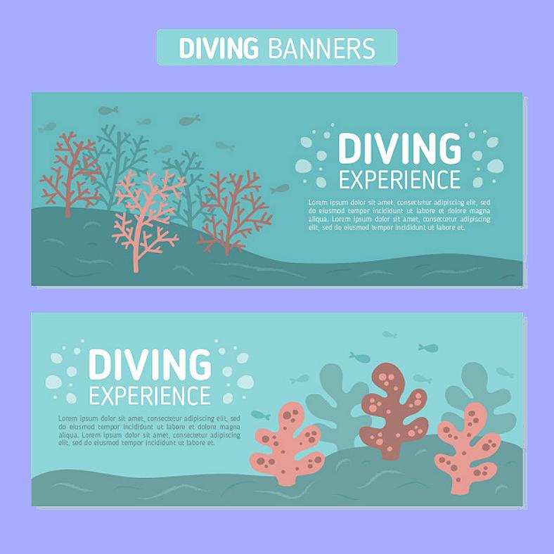 diving banner