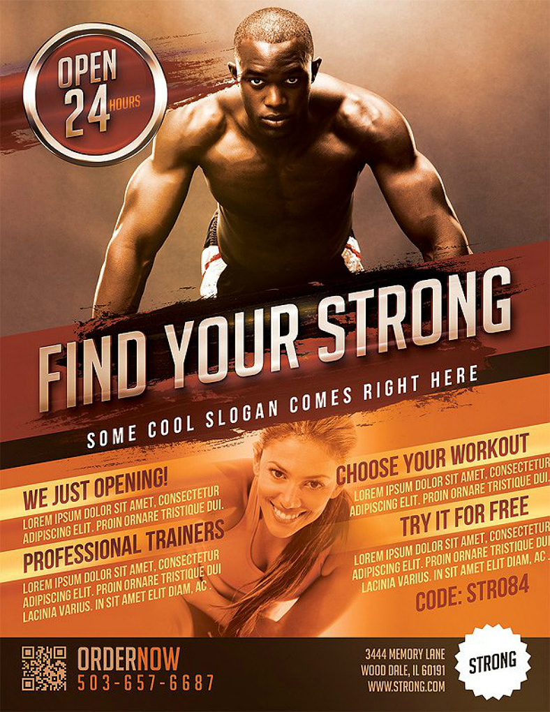 24  gym fitness flyer designs