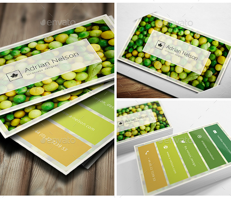 landscaper business card