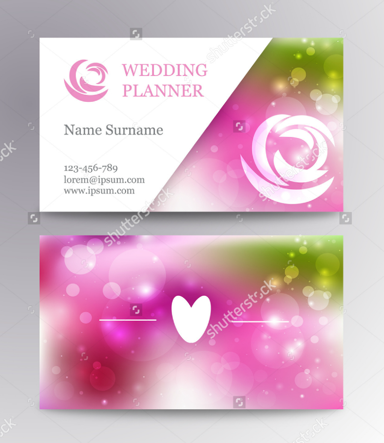 8+ Designs for Wedding Planner Business Cards | Design Trends ...