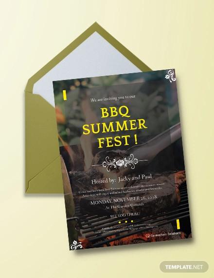 simple bbq invitation design