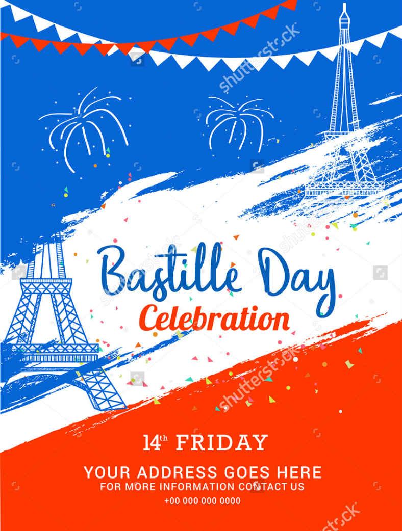 bastille day flyer poster