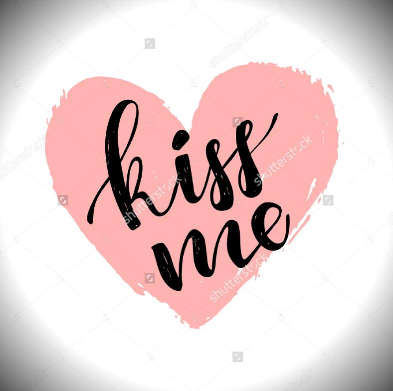 kiss calligraphy