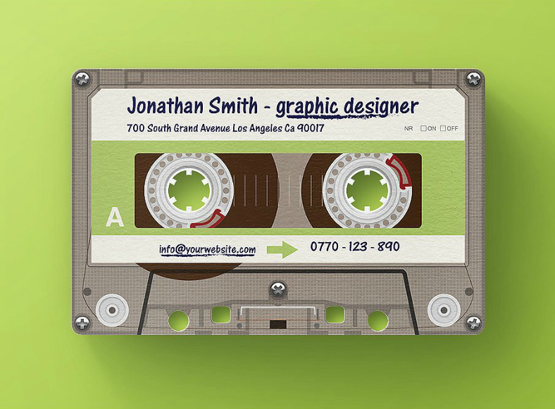 10 creatively unique business card designs design trends cassette tape unique business card design reheart Choice Image