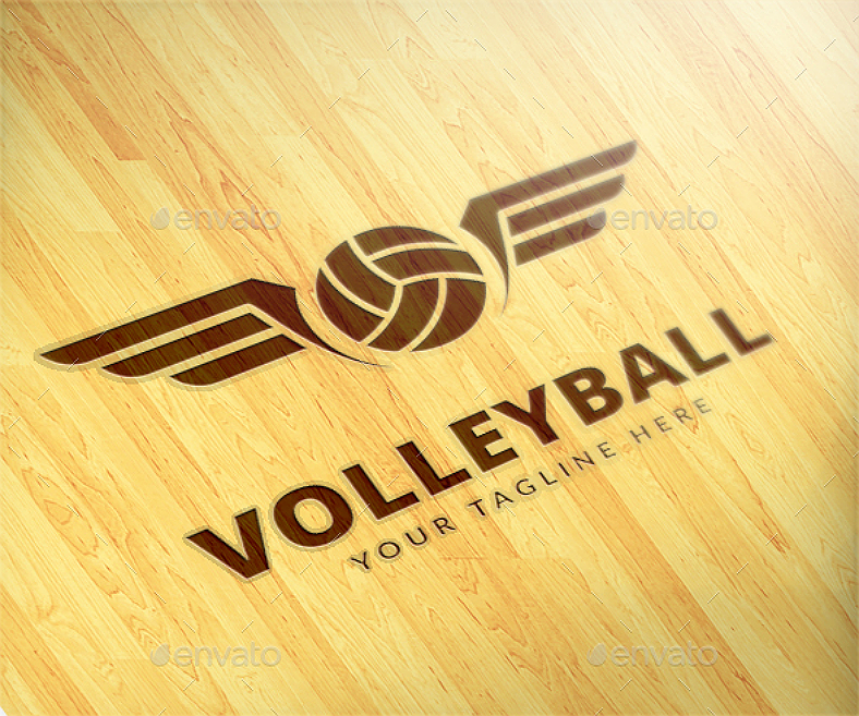 8 volleyball logo designs design trends premium psd vector