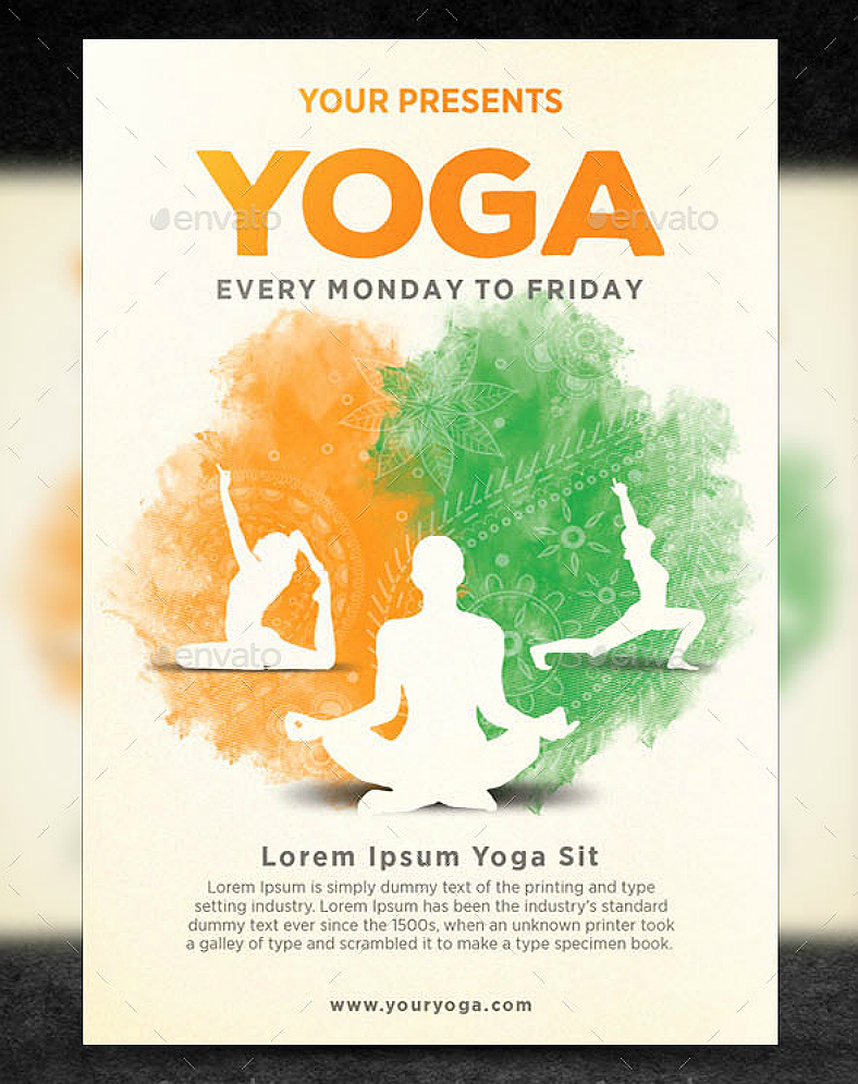 12+ Motivational Yoga Flyer Designs | Design Trends - Premium PSD ...