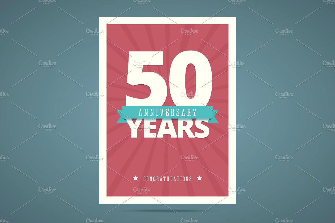 50 year anniversary card