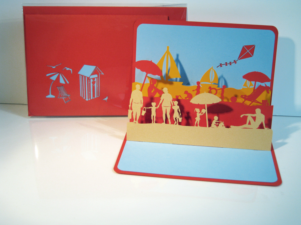 Beach Kirigami Pop Up Card