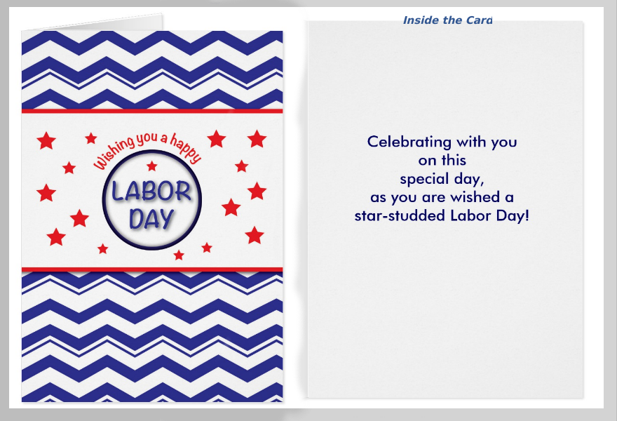 Chevron Labor Day Greeting Card
