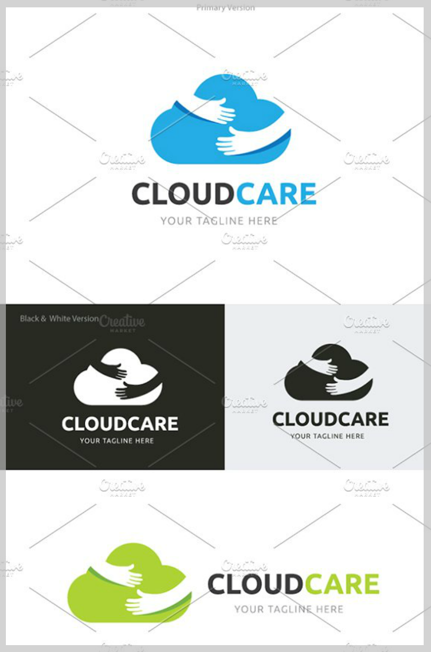 cloud care logo design1