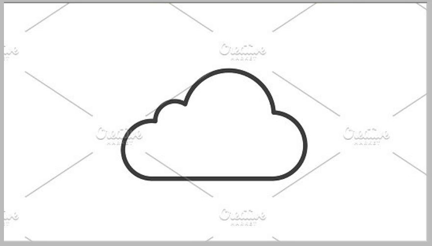 cloud outline logo