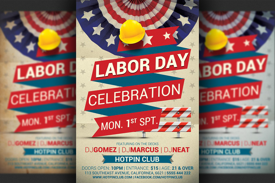 club labor day celebration flyer